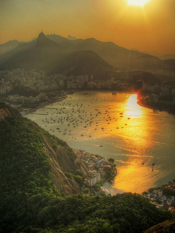 Setting Sun Over Botafogo Photograph by By Aj Brustein