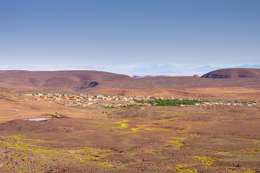 Settlement Leaving Ouarzazate To Agdz Photograph by Paul Boyden - Polimo