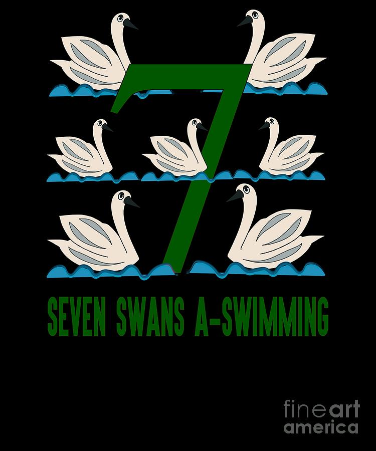 Seven Swans A Swimming Song 12 Days Christmas Numbers ...