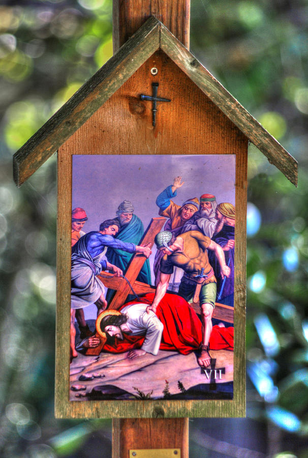 Seventh Station of the Cross - Jesus Falls for the Second Time by Michael Mazaika