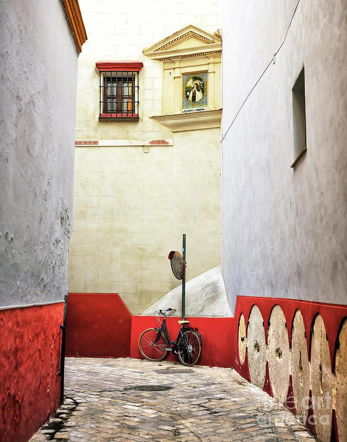 Seville Bike in the Alley by John Rizzuto