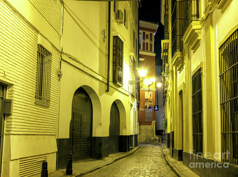 Seville Night Alley by John Rizzuto