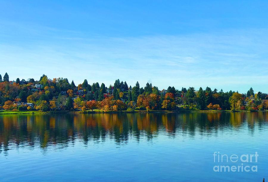 Seward Park Reflections by Suzanne Lorenz