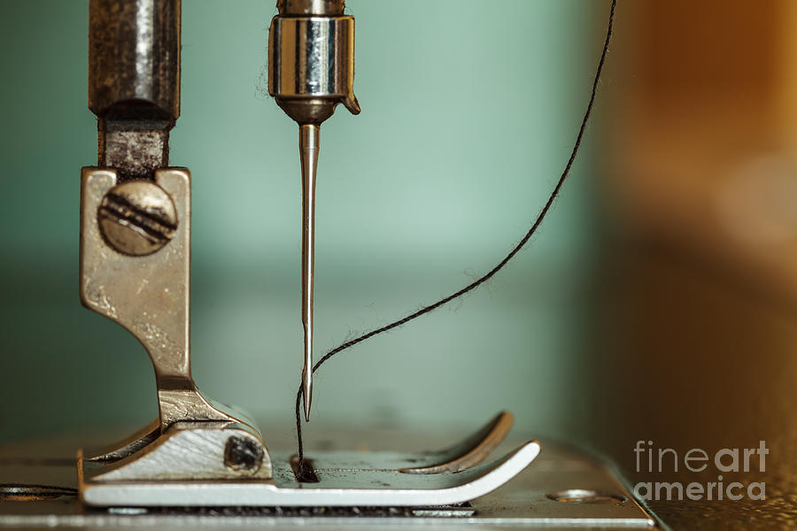 Appliance Photograph - Sewing Machine And Thread Rolling by Dollatum Hanrud