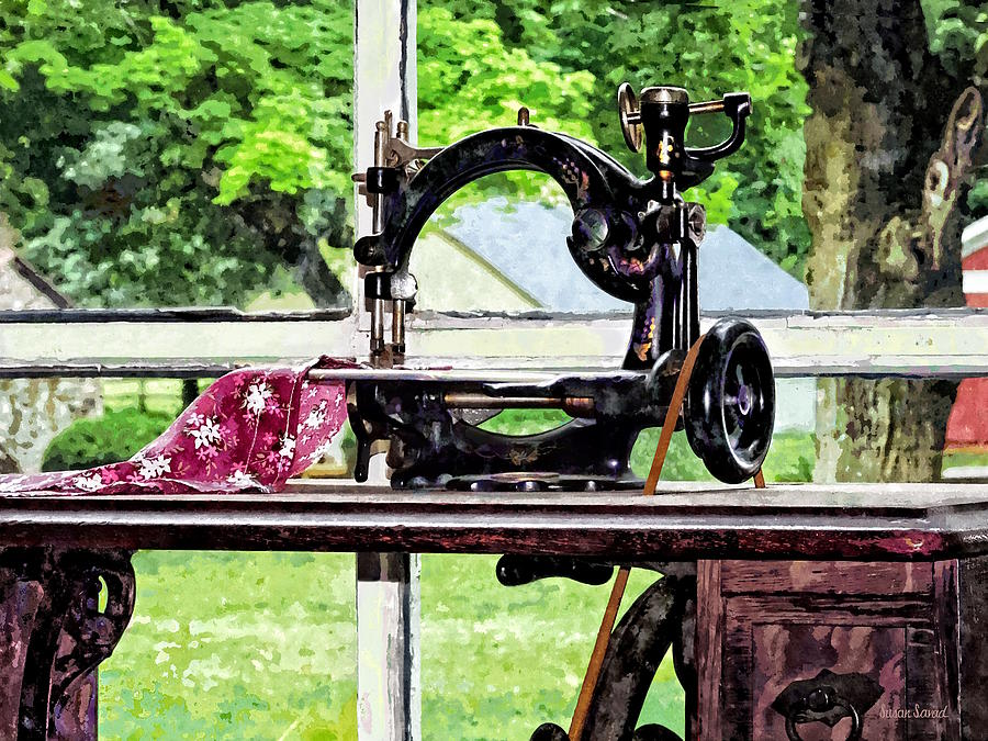 Sewing Machine in Window by Susan Savad