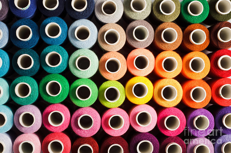 Silky Photograph - Sewing Threads As A Multicolored by Oksana Shufrych