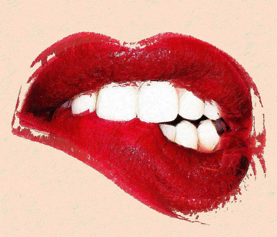 Sexy Lip Bite Mouth Lipstick by Tony Rubino