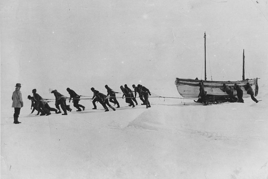 Shackletons Trans-antarctic Expedition Photograph by Hulton Archive