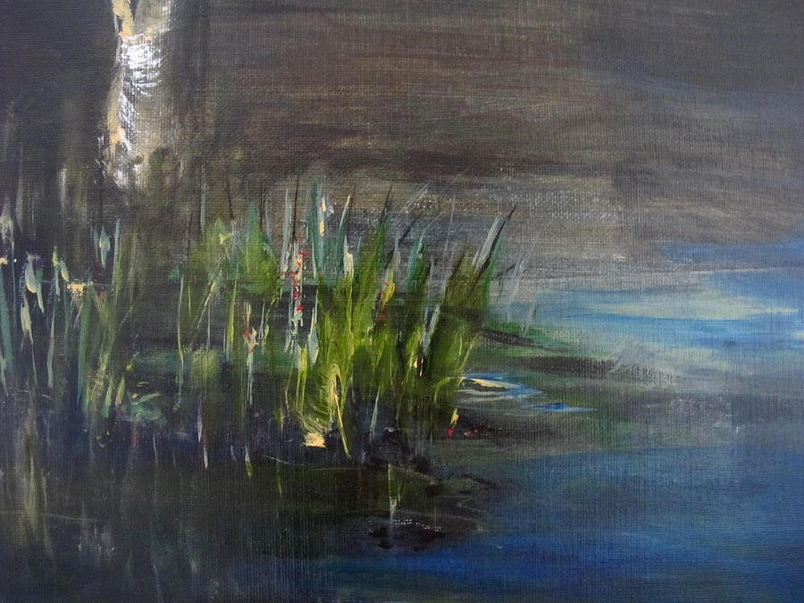 Marshland Painting - Shades And Shadows Detail by Rosita Pisarchick