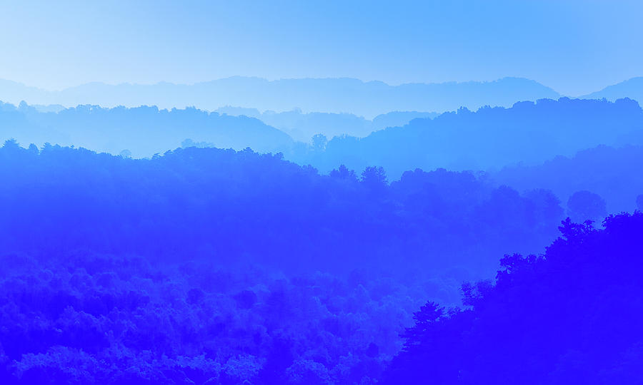 Shades Of Blue Photograph