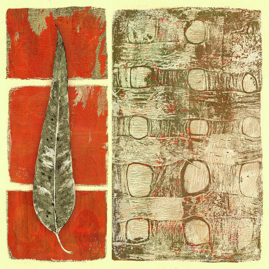 Shades of Eucalyptus Vertical Leaf by Carol Leigh