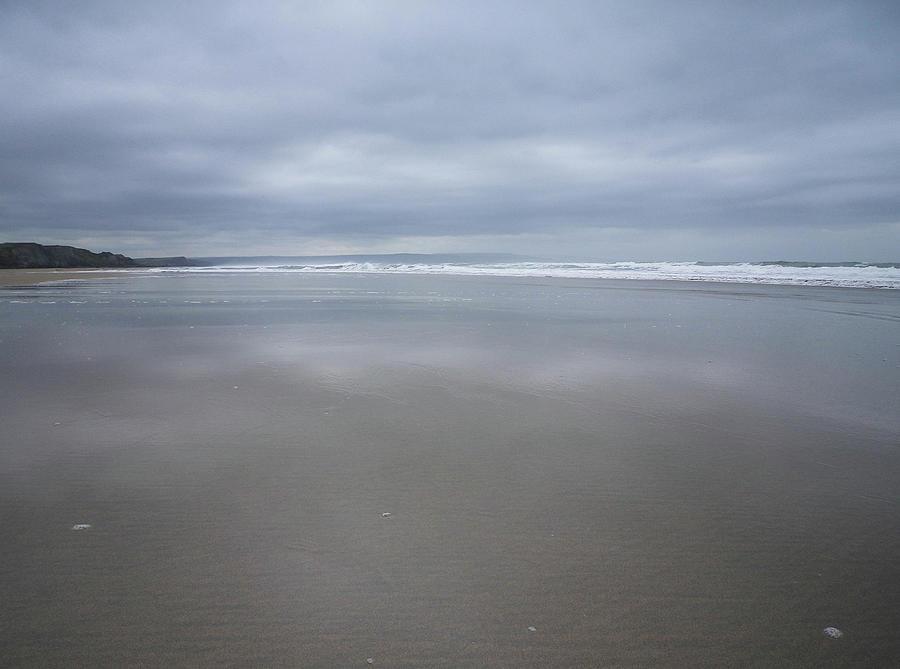 Shades Of Grey At Sandymouth Beach Cornwall Photograph