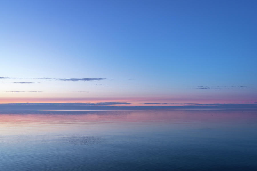 Shades Of Happy Shades Of Calm - Deep Sapphire Blue Turning To Living Coral Photograph
