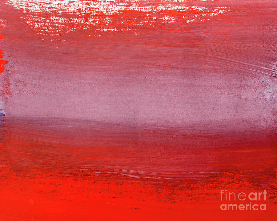 Shades Of Red Abstract Gouache Digital Art by Vagengeym elena