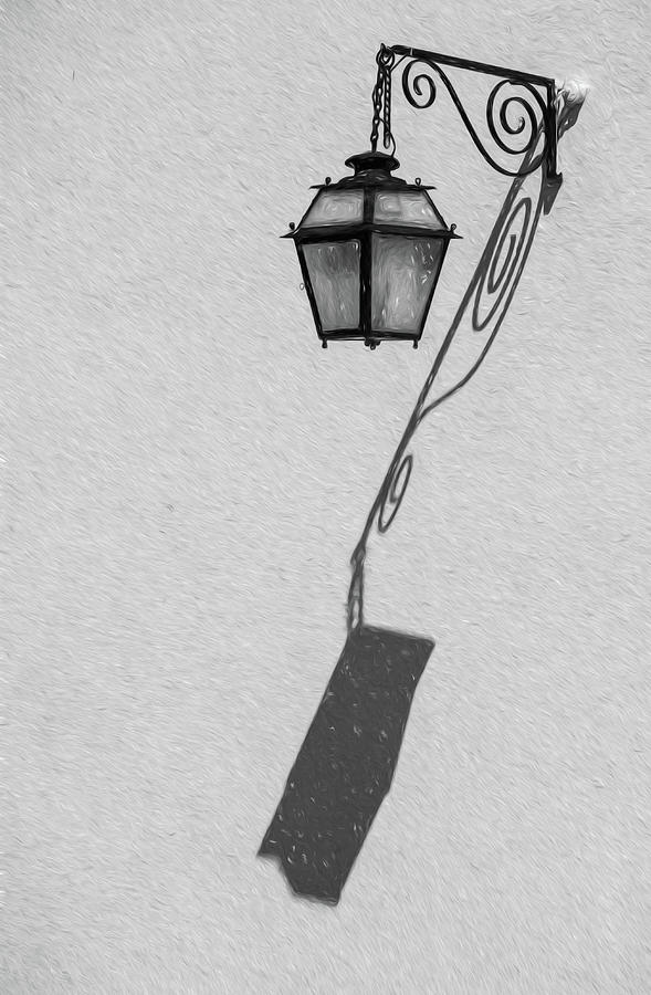 Shadow Lamp BW by David Letts