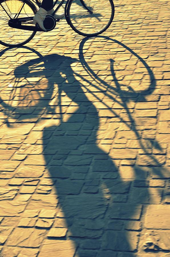 Shadow Of Bicycle Photograph by Photo By Ira Heuvelman-dobrolyubova