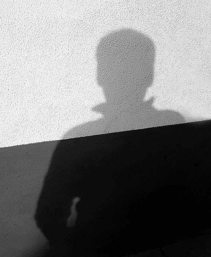 Shadow on Textured Wall by Prakash Ghai