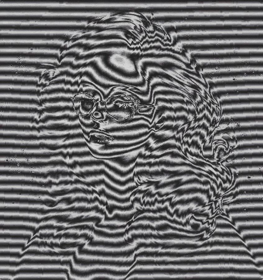 Shadow portrait by Mario Carini