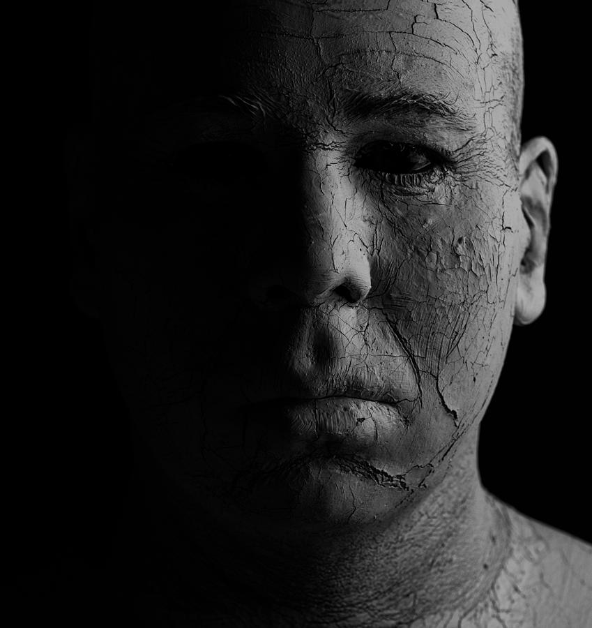 Clay Photograph - Shadowman by Mike Melnotte