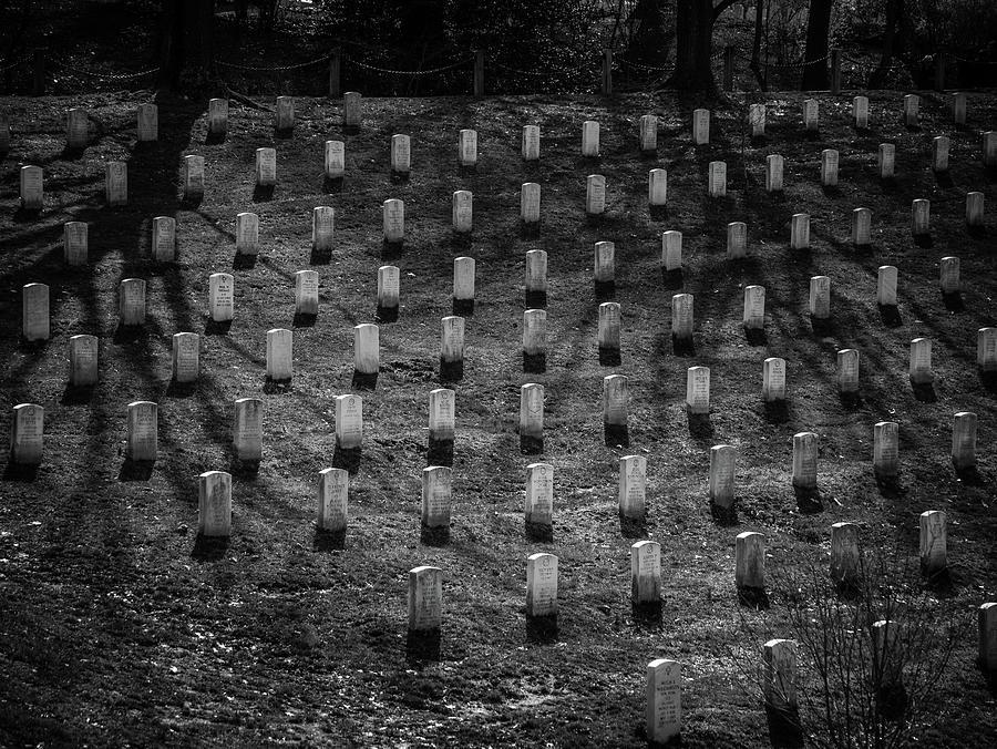 Shadows At Arlington Photograph by Fred DeSousa