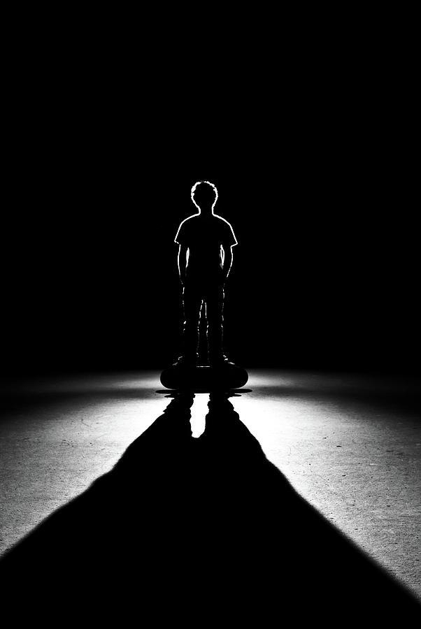 Shadows Of Skateboarder Photograph by Stephen Cameron Photos