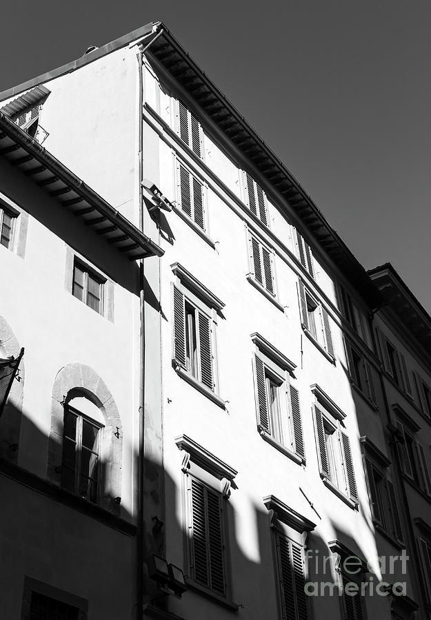 Shadows Photograph - Shadows On The Building In Florence by John Rizzuto