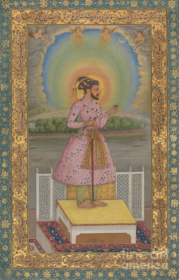 Indian Painting - Shah Jahan On A Terrace by Chitarman