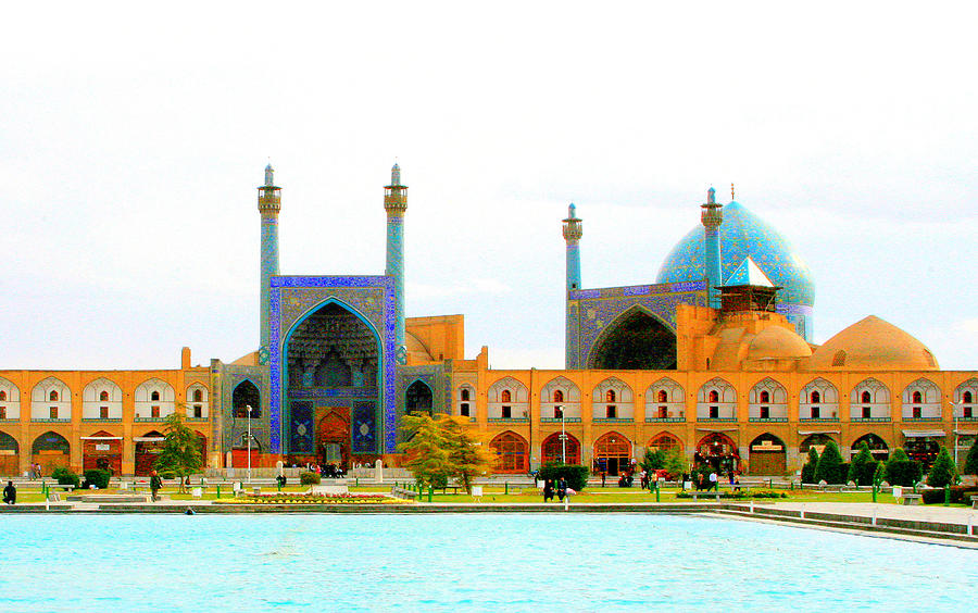 Shah Mosque Of Naghsh-i Jahan Square Photograph by Sam W Stearman