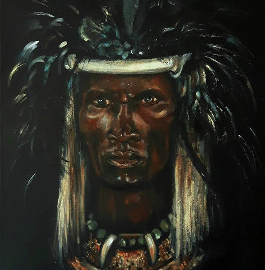 Shaka Zulu Painting By Black Meridians