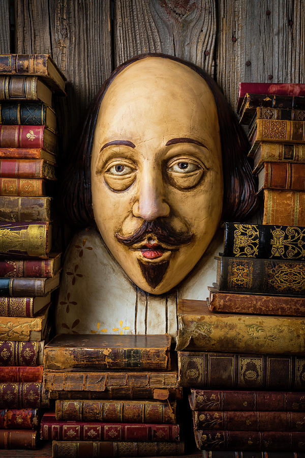 Antique Photograph - Shakespeare With Old Books by Garry Gay