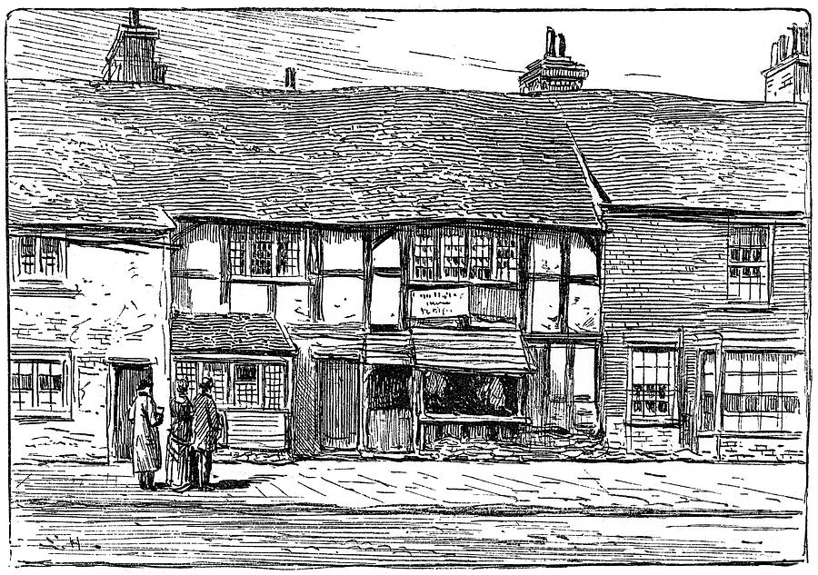 Shakespeares Birthplace Drawing by Print Collector