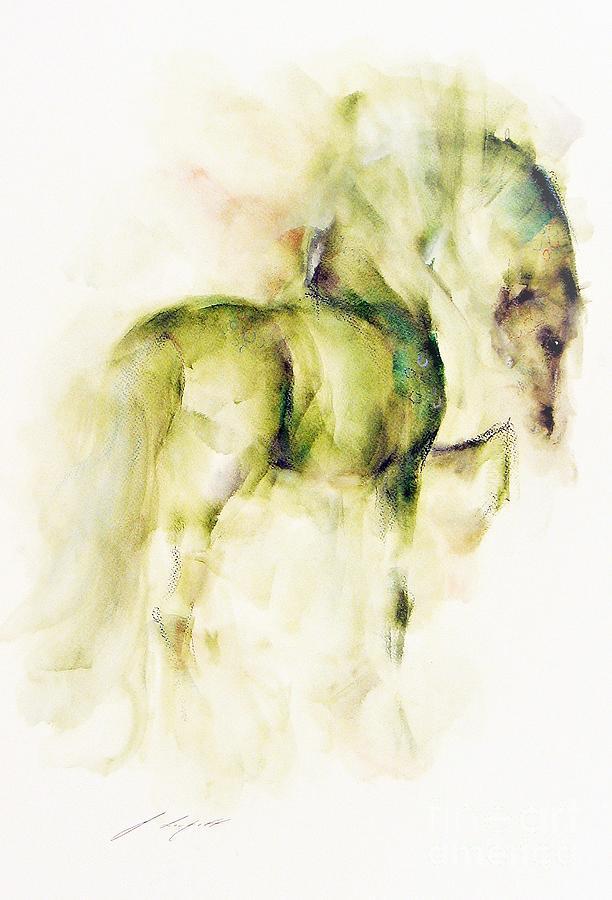 Horse Painting - Shamrock by Janette Lockett