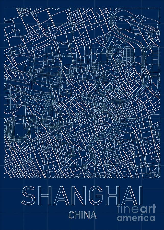 Shanghai Blueprint City Map by HELGE