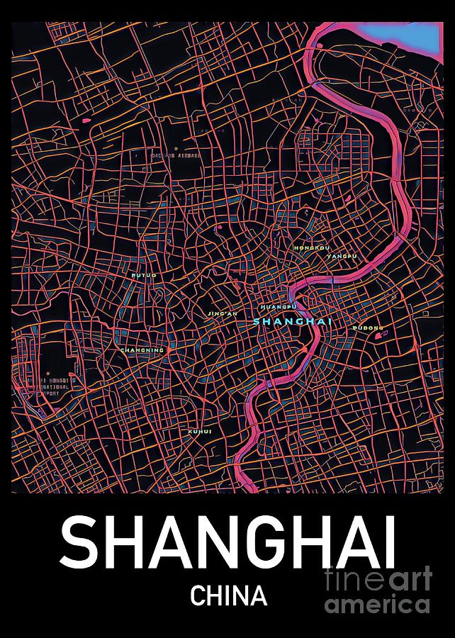 Shanghai City Map by HELGE