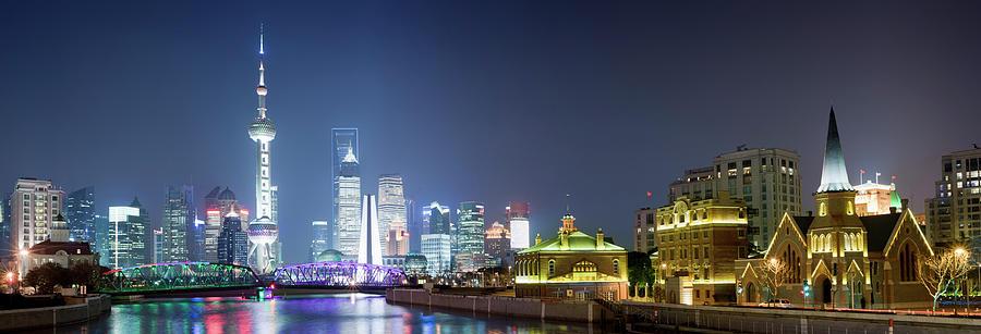 Shanghai City Skyline In China Photograph by Deejpilot