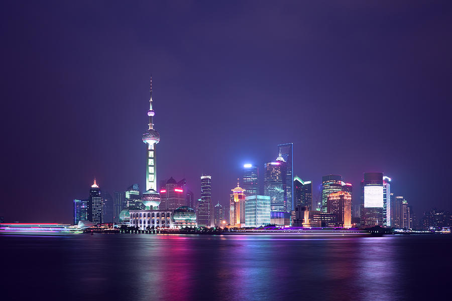 Shanghai Cityscape Photograph by Ithinksky