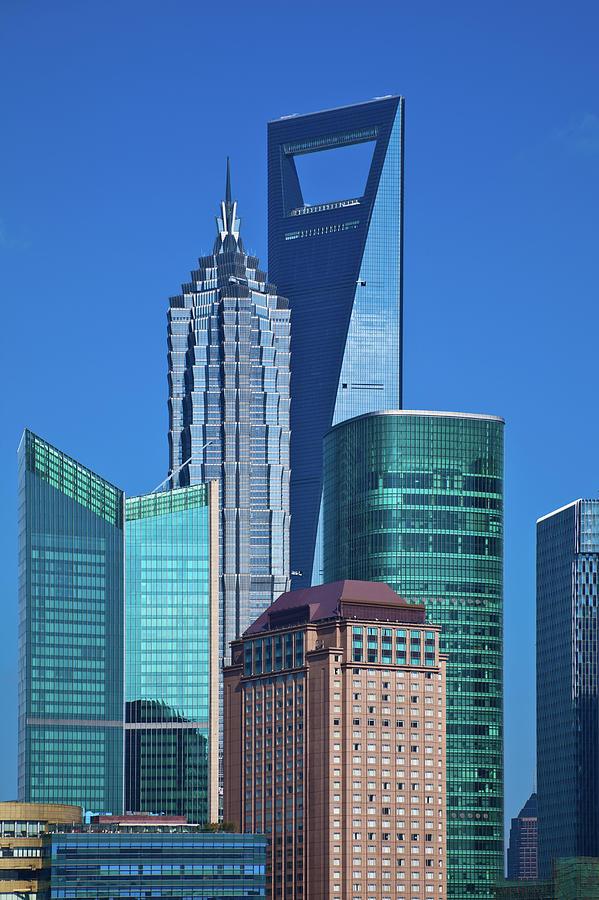 Shanghai Landmark Building Photograph by Ithinksky