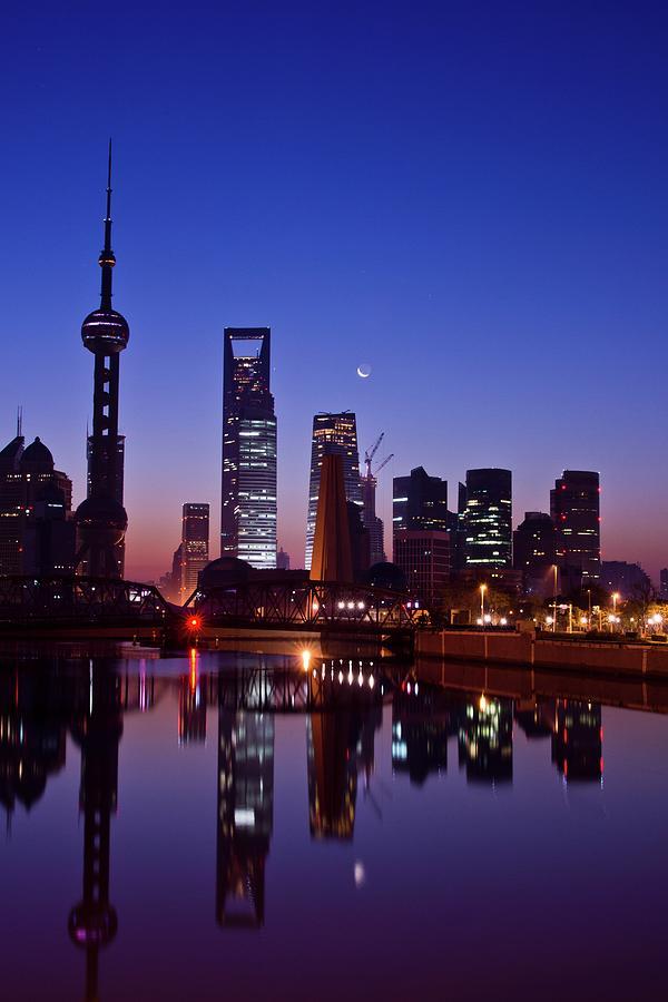Shanghai Morning Photograph by Qianli Zhang