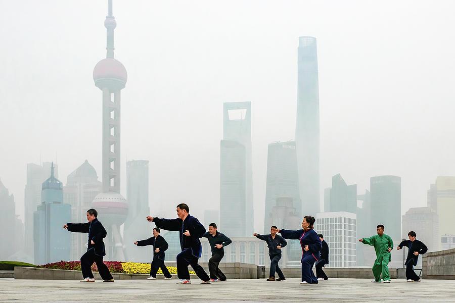 China Photograph - Shanghai Morning Tai Chi by Ian Robert Knight