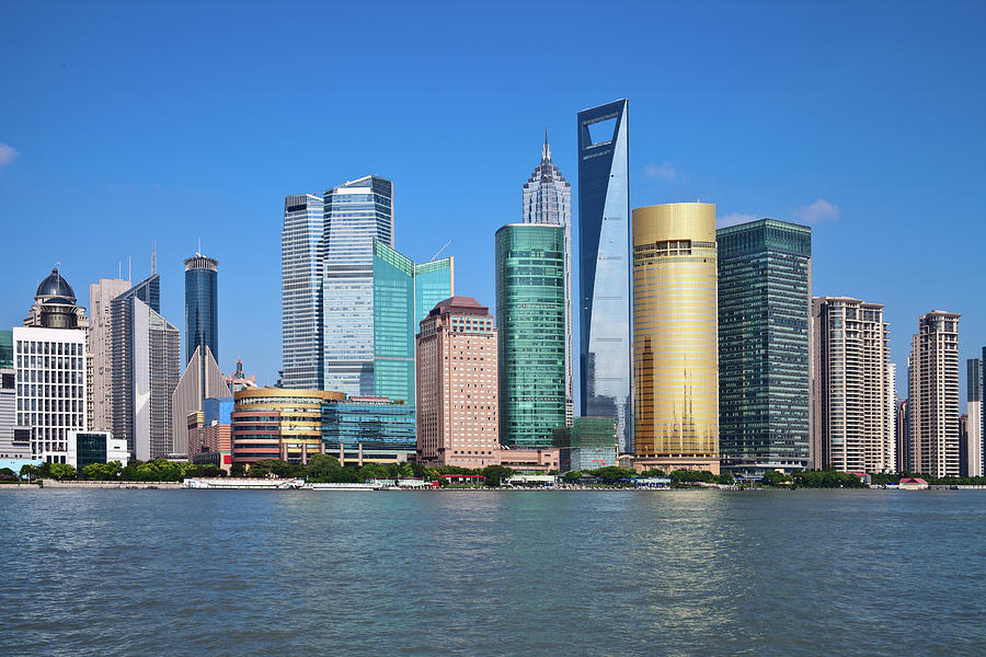 Shanghai Pudong Cityscape Photograph by Ithinksky