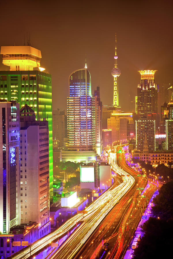 Shanghai Skyline Photograph by Nikada