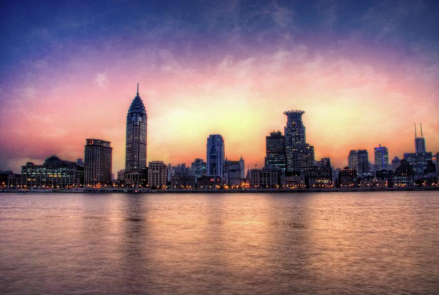 Shanghai Skyline Photograph by Photo By Dan Goldberger