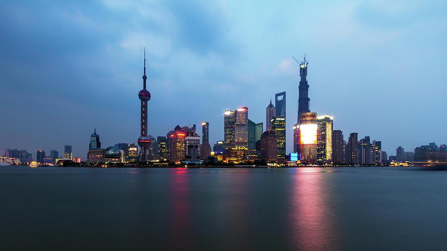 Shanghai Skyline Photograph by Photograph By Juha Loukola