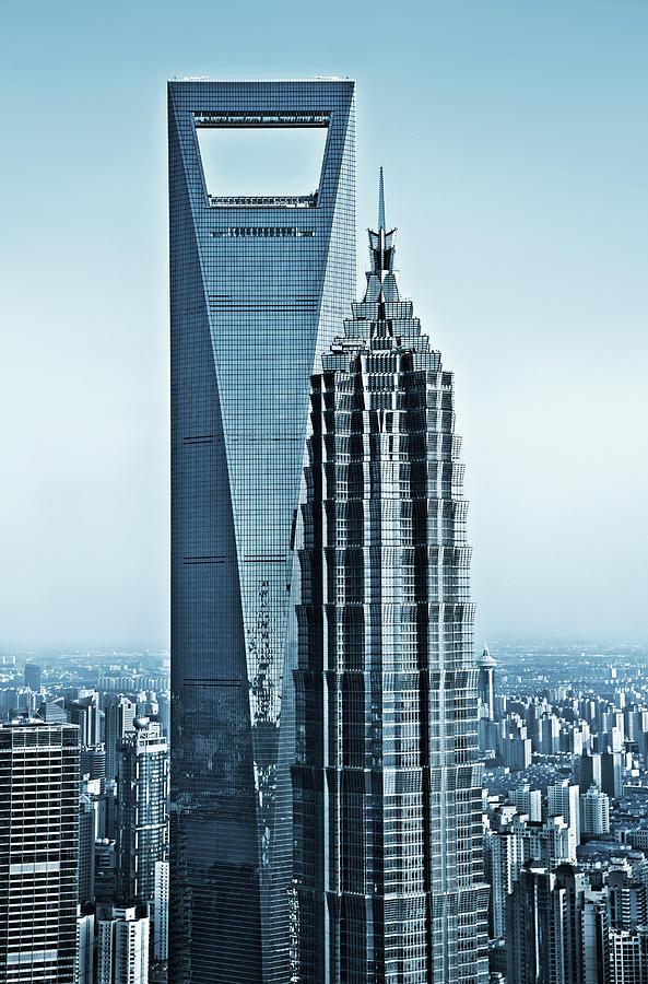 Shanghai Skyscraper Photograph by Nikada