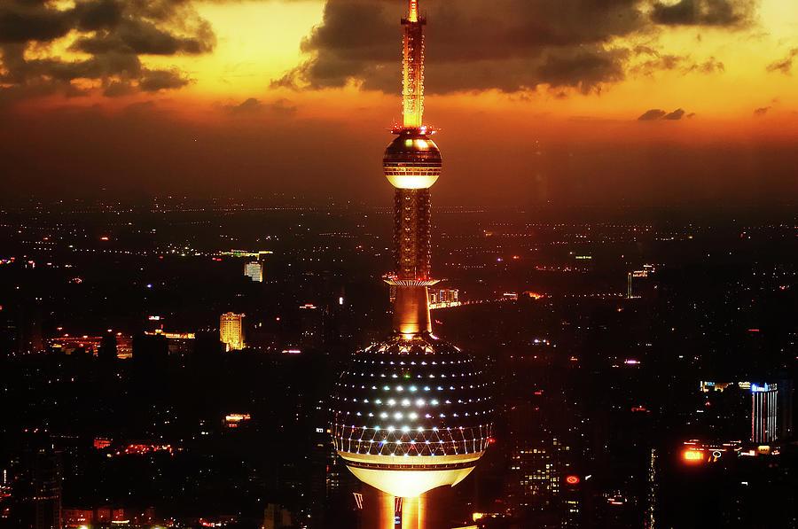 Shanghais Night Photograph by Wenjie Li