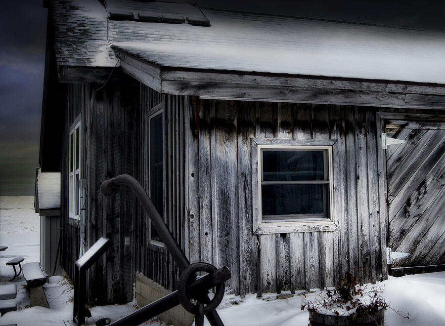 Shanty at Fishtown Michigan by Evie Carrier