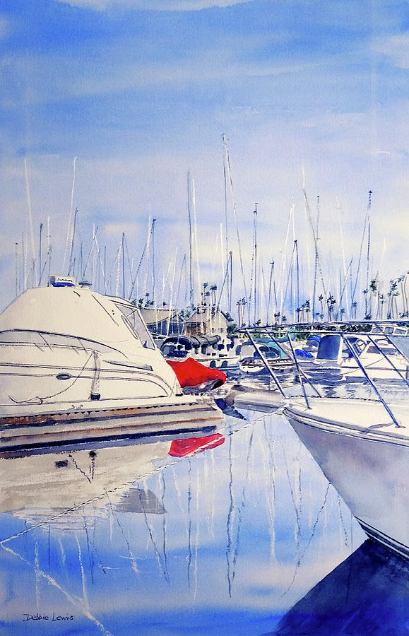 Shapes and Colors of Alamitos Bay by Debbie Lewis
