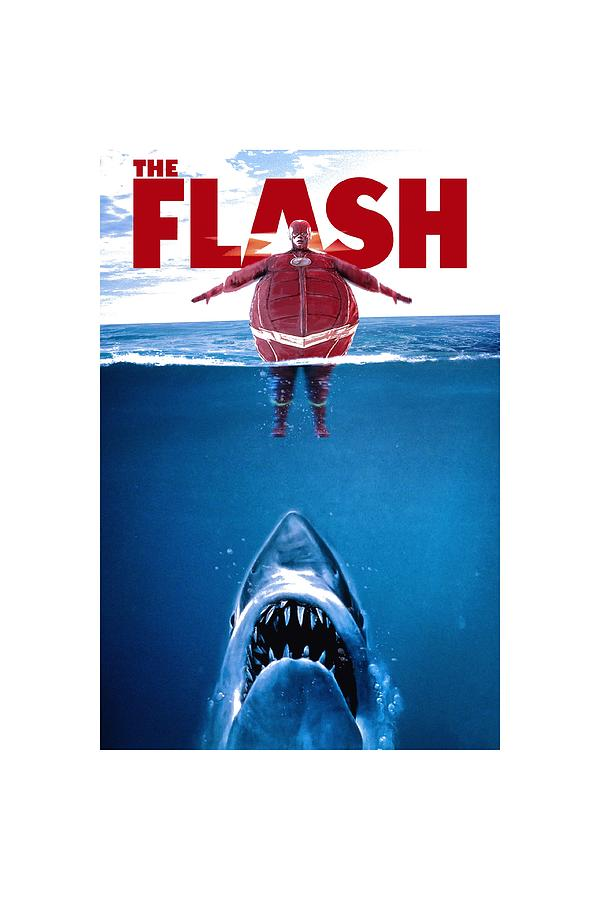 San Jose Sharks Digital Art - Jaws Parody Flash by Rinal Binal