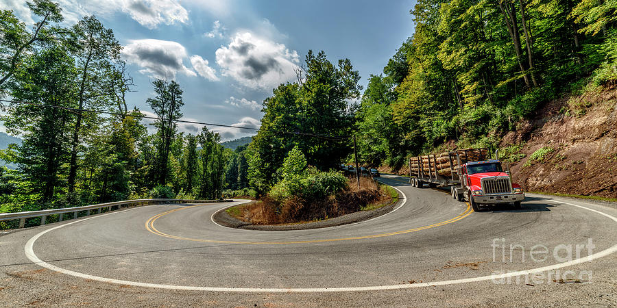 Sharp Curve Country Road  by Thomas R Fletcher