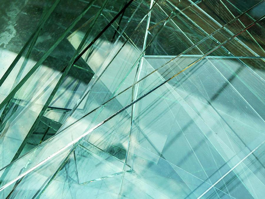 Sharp Sheet Glass Waste Photograph By Benedek Alpar